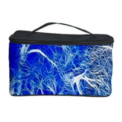 Winter Blue Moon Fractal Forest Background Cosmetic Storage Case
