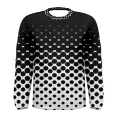Halftone Gradient Pattern Men s Long Sleeve Tee