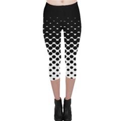 Halftone Gradient Pattern Capri Leggings