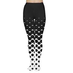 Halftone Gradient Pattern Women s Tights