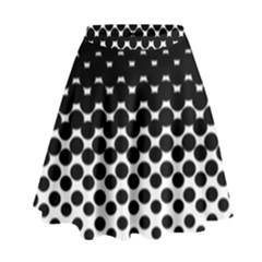 Halftone Gradient Pattern High Waist Skirt