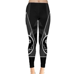 Abstract Pigs Triangle Leggings