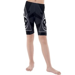 Abstract Pigs Triangle Kids  Mid Length Swim Shorts