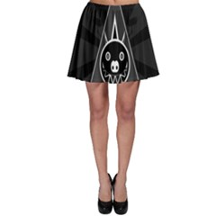 Abstract Pigs Triangle Skater Skirt