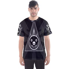 Abstract Pigs Triangle Men s Sport Mesh Tee