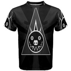 Abstract Pigs Triangle Men s Cotton Tee