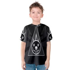 Abstract Pigs Triangle Kids  Cotton Tee