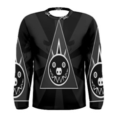 Abstract Pigs Triangle Men s Long Sleeve Tee