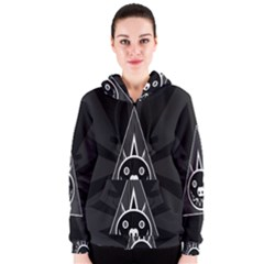Abstract Pigs Triangle Women s Zipper Hoodie