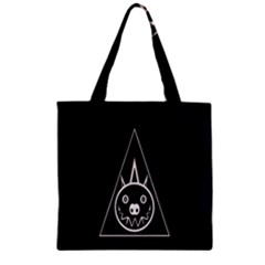 Abstract Pigs Triangle Zipper Grocery Tote Bag