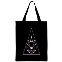 Abstract Pigs Triangle Zipper Classic Tote Bag