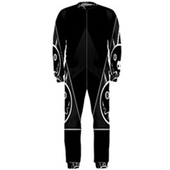 Abstract Pigs Triangle OnePiece Jumpsuit (Men)