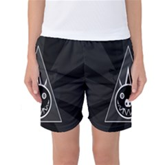 Abstract Pigs Triangle Women s Basketball Shorts