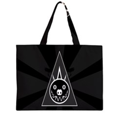 Abstract Pigs Triangle Large Tote Bag