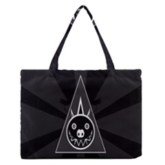 Abstract Pigs Triangle Medium Zipper Tote Bag