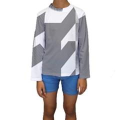 Gradient Base Kids  Long Sleeve Swimwear