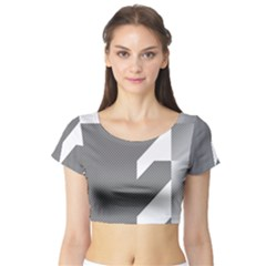 Gradient Base Short Sleeve Crop Top (Tight Fit)