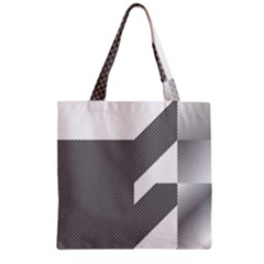 Gradient Base Zipper Grocery Tote Bag
