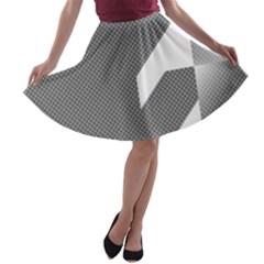 Gradient Base A Line Skater Skirt