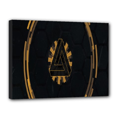 Geometry Interfaces Deus Ex Human Revolution Deus Ex Penrose Triangle Canvas 16  X 12
