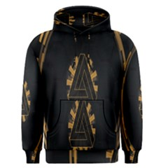 Geometry Interfaces Deus Ex Human Revolution Deus Ex Penrose Triangle Men s Pullover Hoodie