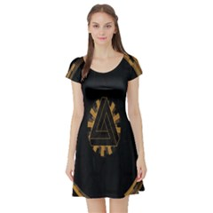 Geometry Interfaces Deus Ex Human Revolution Deus Ex Penrose Triangle Short Sleeve Skater Dress
