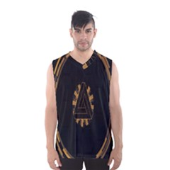 Geometry Interfaces Deus Ex Human Revolution Deus Ex Penrose Triangle Men s Basketball Tank Top