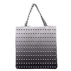 Gradient Oval Pattern Grocery Tote Bag