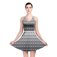 Gradient Oval Pattern Reversible Skater Dress