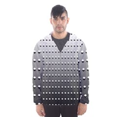 Gradient Oval Pattern Hooded Wind Breaker (men)