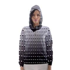 Gradient Oval Pattern Hooded Wind Breaker (women)