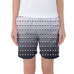 Gradient Oval Pattern Women s Basketball Shorts