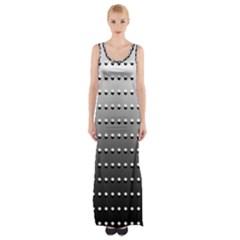 Gradient Oval Pattern Maxi Thigh Split Dress