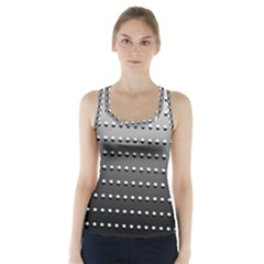 Gradient Oval Pattern Racer Back Sports Top