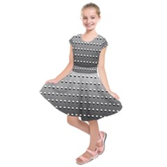 Gradient Oval Pattern Kids  Short Sleeve Dress