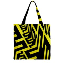 Pattern Abstract Zipper Grocery Tote Bag