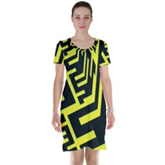 Pattern Abstract Short Sleeve Nightdress