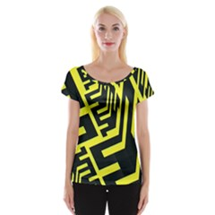 Pattern Abstract Women s Cap Sleeve Top