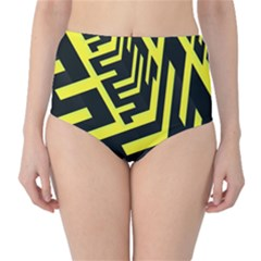 Pattern Abstract High-Waist Bikini Bottoms