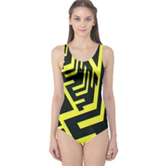 Pattern Abstract One Piece Swimsuit