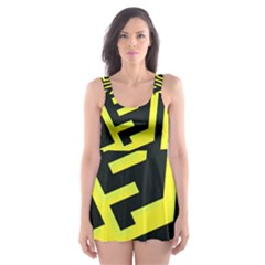 Pattern Abstract Skater Dress Swimsuit