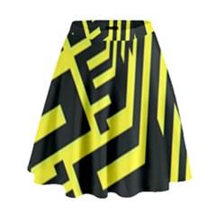 Pattern Abstract High Waist Skirt