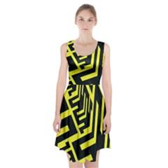 Pattern Abstract Racerback Midi Dress