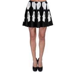 Cute Ghost Pattern Skater Skirt