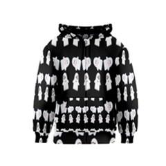 Cute Ghost Pattern Kids  Zipper Hoodie