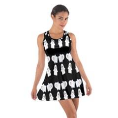 Cute Ghost Pattern Cotton Racerback Dress