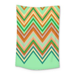 Chevron Wave Color Rainbow Triangle Waves Small Tapestry