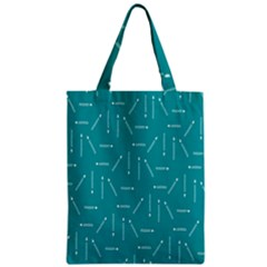Digital Art Minimalism Abstract Candles Blue Background Fire Zipper Classic Tote Bag