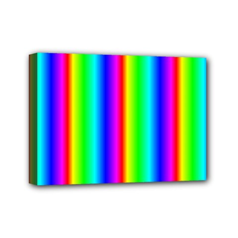 Rainbow Gradient Mini Canvas 7  X 5