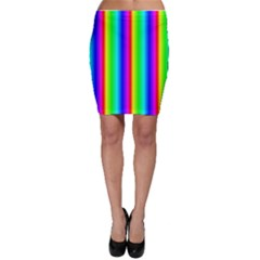 Rainbow Gradient Bodycon Skirt